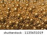 balls of golden color of...   Shutterstock . vector #1135651019