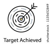 bullseye infographic is used... | Shutterstock .eps vector #1135652849