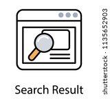 magnifier browsing through a... | Shutterstock .eps vector #1135652903