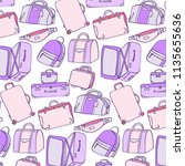 luggage pattern. baggage... | Shutterstock .eps vector #1135655636