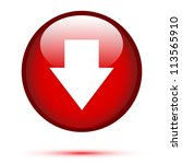 arrow down on red button | Shutterstock .eps vector #113565910