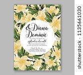 floral wedding invitation... | Shutterstock .eps vector #1135661030