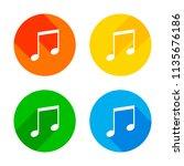music note icon. flat white...