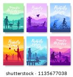 family vacation with children... | Shutterstock .eps vector #1135677038