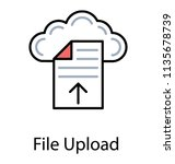text file uploading to cloud... | Shutterstock .eps vector #1135678739