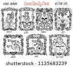 set with seven deadly sins... | Shutterstock .eps vector #1135683239