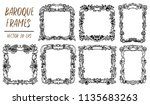 set with black and white vector ... | Shutterstock .eps vector #1135683263