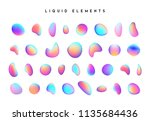 set isolated elements of... | Shutterstock .eps vector #1135684436