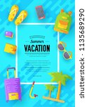 tour of the world vector... | Shutterstock .eps vector #1135689290