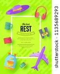 tour of the world vector... | Shutterstock .eps vector #1135689293
