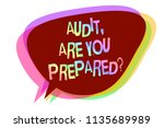 text sign showing audit  are... | Shutterstock . vector #1135689989