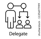 task delegation  management... | Shutterstock .eps vector #1135697999