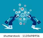 cooperation. organization... | Shutterstock .eps vector #1135698956