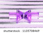 purple compress image icon on...