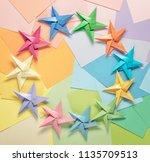 Multipastel Colored Paper Paper Stars - Fine Art prints