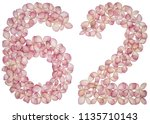 arabic numeral 62  sixty two ... | Shutterstock . vector #1135710143