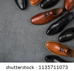 male shoes collection. men's... | Shutterstock . vector #1135711073