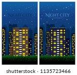 big city at night. night... | Shutterstock .eps vector #1135723466