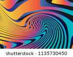 color trendy twisted lines... | Shutterstock .eps vector #1135730450