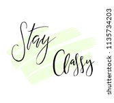 stay classy. fashion... | Shutterstock .eps vector #1135734203