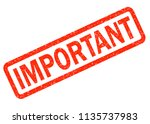 important red rubber stamp on... | Shutterstock . vector #1135737983
