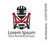 music record company logo | Shutterstock .eps vector #1135739249