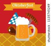 poster for oktoberfest festival.... | Shutterstock .eps vector #1135745249