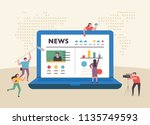 small size people character... | Shutterstock .eps vector #1135749593
