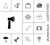 handle icon. collection of 13... | Shutterstock .eps vector #1135757453