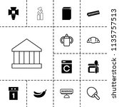 nobody icon. collection of 13... | Shutterstock .eps vector #1135757513