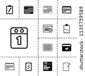 agenda icon. collection of 13... | Shutterstock .eps vector #1135759589