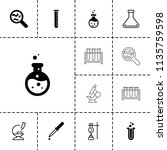 laboratory icon. collection of... | Shutterstock .eps vector #1135759598