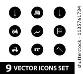 field icon. collection of 9... | Shutterstock .eps vector #1135761734