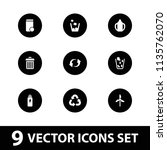 recycle icon. collection of 9... | Shutterstock .eps vector #1135762070