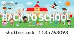 education on back to school... | Shutterstock .eps vector #1135763093