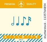 symbol of music  notes.... | Shutterstock .eps vector #1135764854