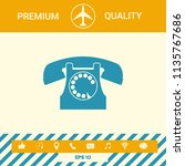 retro telephone symbol | Shutterstock .eps vector #1135767686