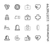 emergency icon. collection of... | Shutterstock .eps vector #1135768799