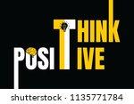think positive vector...   Shutterstock .eps vector #1135771784