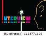 interview vector illustration....   Shutterstock .eps vector #1135771808