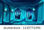 vector dark gothic castle... | Shutterstock .eps vector #1135772390