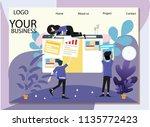vector flat illustration for...   Shutterstock .eps vector #1135772423