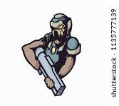 man gunner e sports logo | Shutterstock .eps vector #1135777139