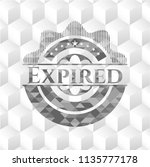 expired grey badge with... | Shutterstock .eps vector #1135777178
