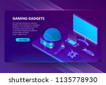 gaming gadgets vector isometric ... | Shutterstock .eps vector #1135778930
