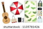 a picnic element on white... | Shutterstock .eps vector #1135781426