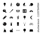 recreation icon. collection of... | Shutterstock .eps vector #1135784984