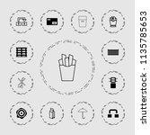carton icon. collection of 13... | Shutterstock .eps vector #1135785653