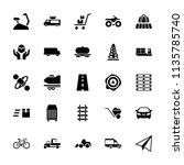 transport icon. collection of... | Shutterstock .eps vector #1135785740