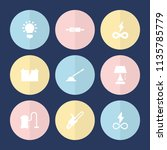 set of 9 electric filled icons... | Shutterstock .eps vector #1135785779
